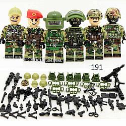 Фигурки российских спецназев SWAT военные армия лего lego BrickArms альфа КОРД