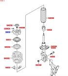 Опора переднего амортизатора киа Спортейдж 4, KIA Sportage 2016-18 QLs, 54610d7000, фото 6