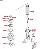 Пыльник переднего амортизатора киа Спортейдж 4, KIA Sportage 2018- Qle, 54625d3000, фото 6