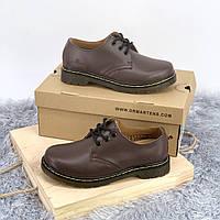 Dr. Martens 1461 Brown туфли(натуральная кожа)(унисекс)