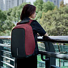 "Рюкзак антивор XD Design Bobby Original Anti-Theft backpack 15,6"" Бордовый, фото 3"