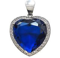 Срібний кулон з сапфіром Серце Океану - кулон який підкорить жіноче серце