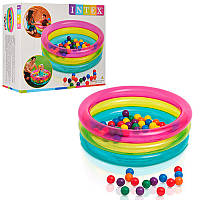 Детский надувной бассейн с шариками 48674 Intex, 86х25 см