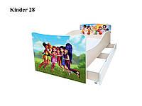 Детская подростковая кровать для девочки Феи Дисней