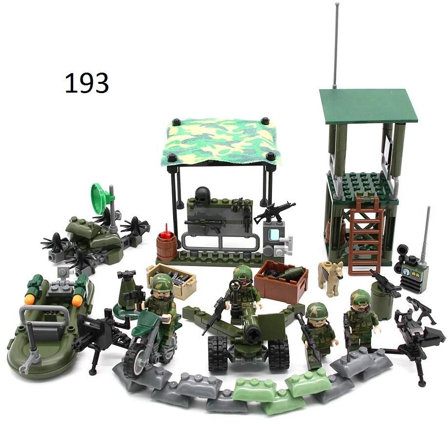 Фигурки камуфляжные военные SWAT спецназ солдаты Лего Lego BrickArms