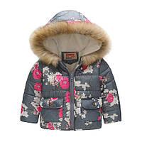 Демисезонная куртка для девочки Цветущие ветки Jomake