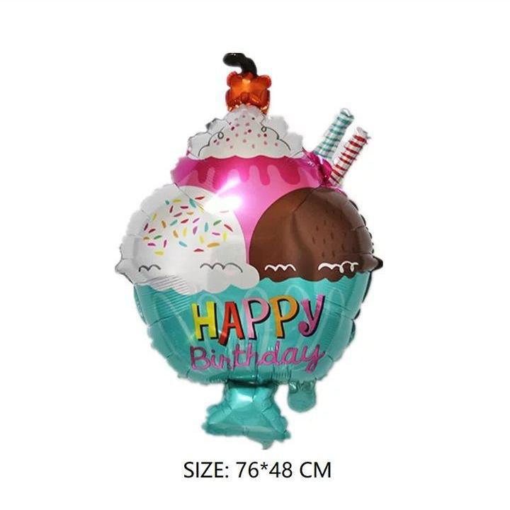 Фольгований куля Морозиво 72*49 см