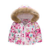 Демисезонная куртка для девочки Весенние цветы Jomake