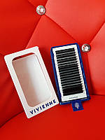Vivienne Elite mix CC 0,07 9-14 чорні вії для нарощення вій ресницы черные для наращивание ресниц alla zayats