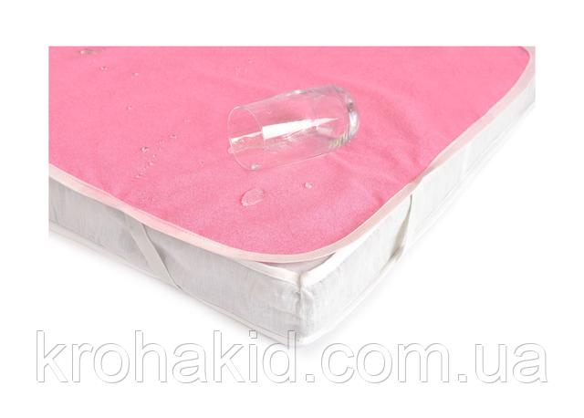 Дитячий водонепроникний махровий наматрацник з гумкою 60*120 см / непромокальний дитячий наматрацник бавовна