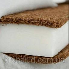Дитячий матрац в ліжко кокос-поролон-кокос (КПК) - 10 см / дитячий матрацик в манеж, фото 2