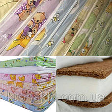Дитячий матрац в ліжко кокос-поролон-кокос (КПК) - 10 см / дитячий матрацик в манеж, фото 3