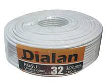 Dialan RG6U 32W CCS 1,02 мм Экранирование 32% 75 Ом 100 м (6шт в ящ)