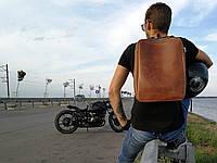 Кожаный мужской рюкзак ручной работы коричневого цвета TsarArt с плотной кожи
