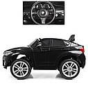 Детский электромобиль Джип JJ 2199 EBLR-2, BMW X6M, кожаное сиденье, колеса EVA, черный, фото 5