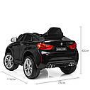 Детский электромобиль Джип JJ 2199 EBLR-2, BMW X6M, кожаное сиденье, колеса EVA, черный, фото 7