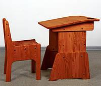 Парта и стульчик для маленьких детей, дерево, тонировка