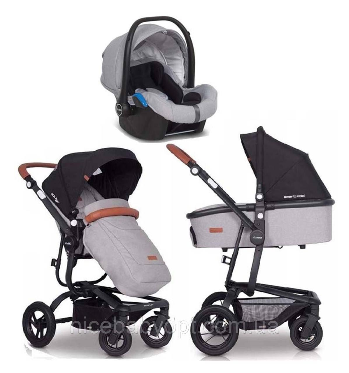 Детская универсальная коляска 3в1 EasyGo Soul Air Grey Fox