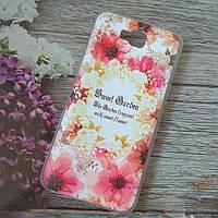 Чехол для huawei y6 pro tit-02 силиконовый flowers Sweet Garden