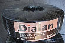 Dialan  F660BV CCS (черный) Экранирование 60% 75 Ом 100 м (6шт в ящ)