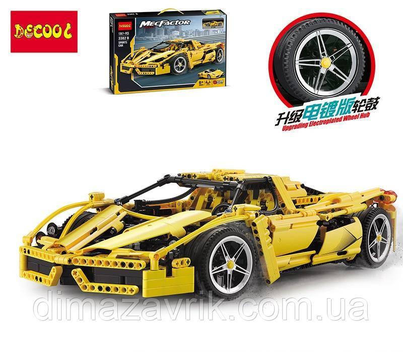 """Конструктор Decool 3382B (Аналог Lego Technic 8653) """"Гоночный автомобиль Enzo Ferrari"""" 1367 деталей"""