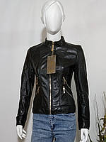 Женская куртка кожзам прямая змейка размер S (40-42)