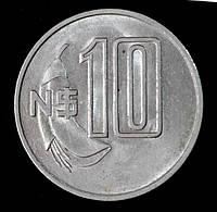 Монета Уругвая 10 песо 1981 г.