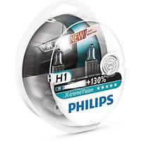 Комплект автоламп Philips H1 X-tremeVision +130%,  12258XV+S2, 2шт., Польша