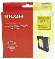 Картридж гелевый Ricoh Yellow GC21YLW (GX2500/3000/3050N/3000S/3050SFn/7000)