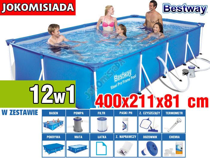 Бассейн каркасный BESTWAY 400x211 см