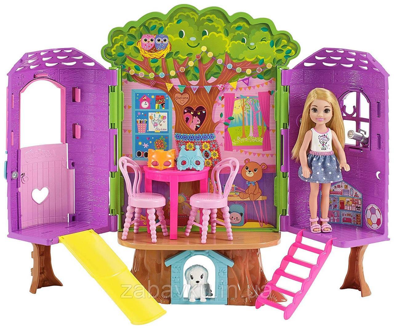 Будиночок Челсі на дереві Barbie Club Chelsea Treehouse Playset