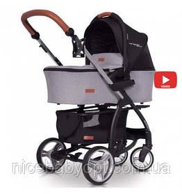 Детская универсальная коляска 2 в1 EasyGo Virage Ecco Grey Fox