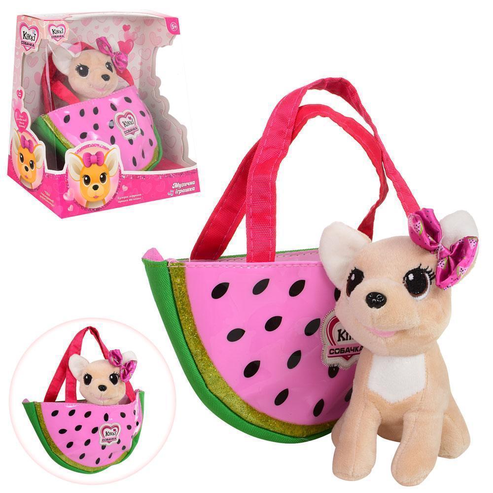 Собачка кикки в сумочке, интерактивная игрушка 16 см