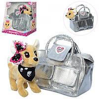 Собачка кикки в сумочке, интерактивная игрушка 22 см