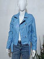 Куртка кожзам голубая