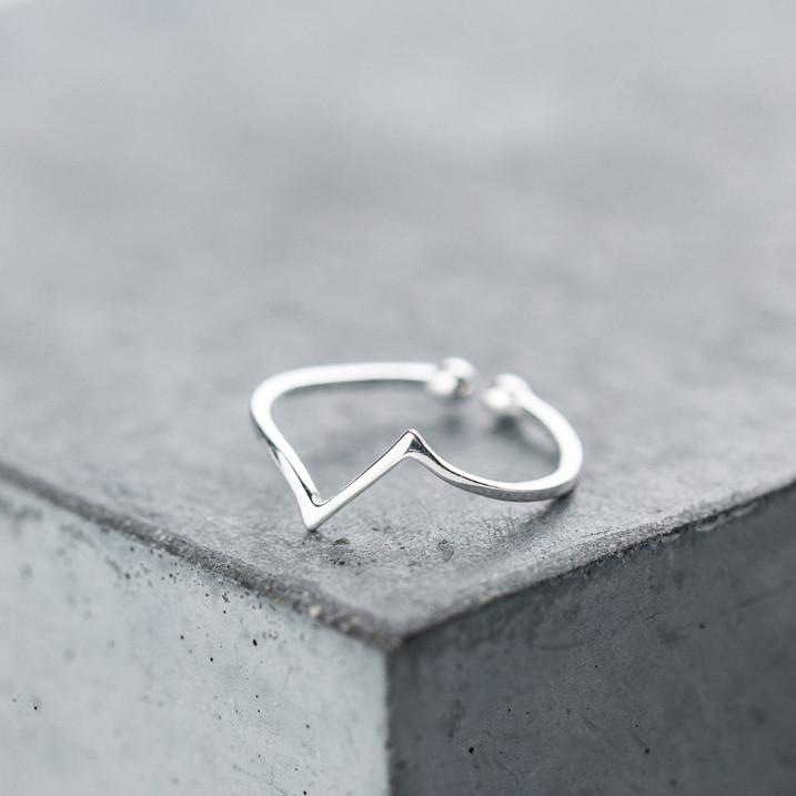 "Серебряное безразмерное кольцо ""Геометрия"""