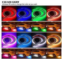 Декоративная RGB LED подсветка салона авто цветомузыка c пультом