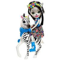 Зебра Зелена і Хуфет Enchantimals Zelena Zebra Doll & Hoofette, фото 1