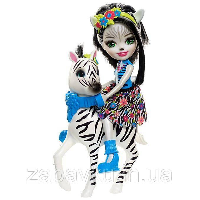 Зебра Зелена і Хуфет Enchantimals Zelena Zebra Doll & Hoofette