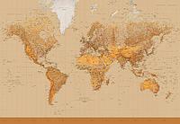 Фотообои: на стену Карта мира, 366х254 см, 8 частей