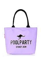 Сумка женская коттоновая PoolParty (коттон pool-9-lilac)