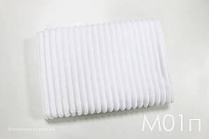 Плюш Minky белый в полоску, шарпей, stripes