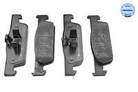 Комплект тормозных колодок, дисковый тормоз MEYLE 025 257 0217