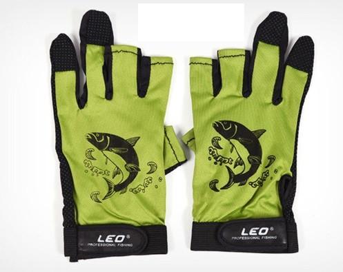Перчатки спиннингиста Leo  (Противоскользящие перчатки для рыбалки )