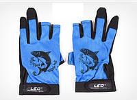 Рукавички спінінгіста Leo (Протиковзкі рукавички для риболовлі )