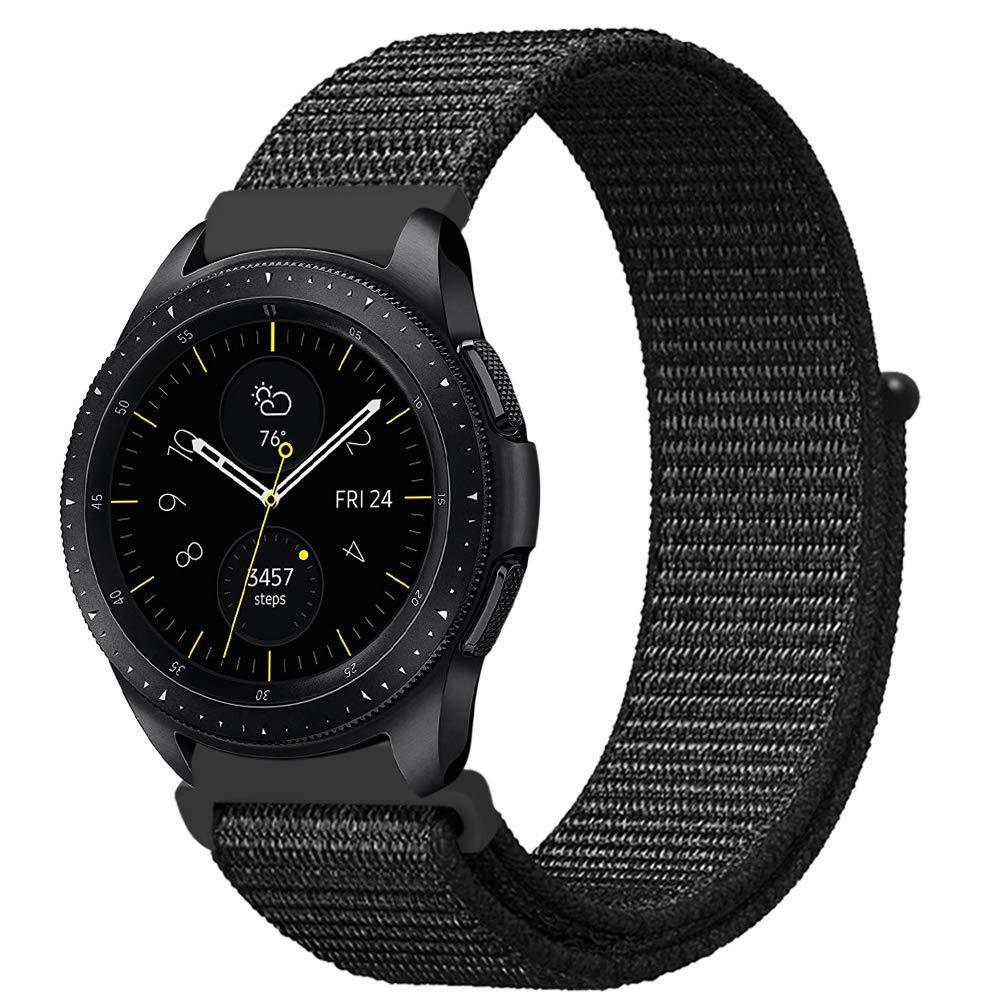 Ремешок BeWatch нейлоновый липучка для Samsung Gear 3 Black (1021301)