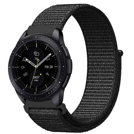Ремешок BeWatch нейлоновый липучка для Samsung Gear 3 Black (1021301), фото 2