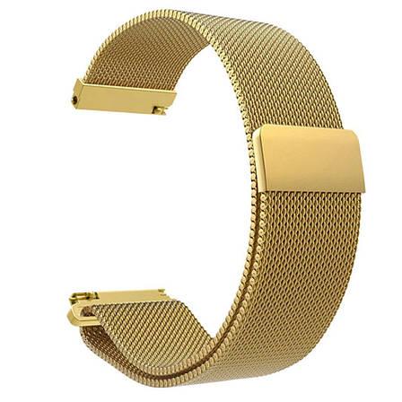 Ремешок стальной BeWatch миланская петля шириной 20 мм Gold (1010228.u), фото 2