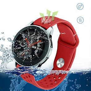 Ремешок силиконовый BeWatch OneColor 22 мм для смарт-часов Samsung Gear S3 Red (1020503), фото 2