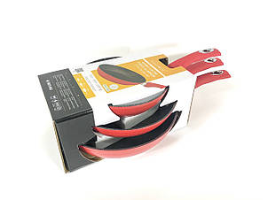 Набор сковородок Royalty Line RL-FM3 RED 3 шт с мраморным покрытием без крышек